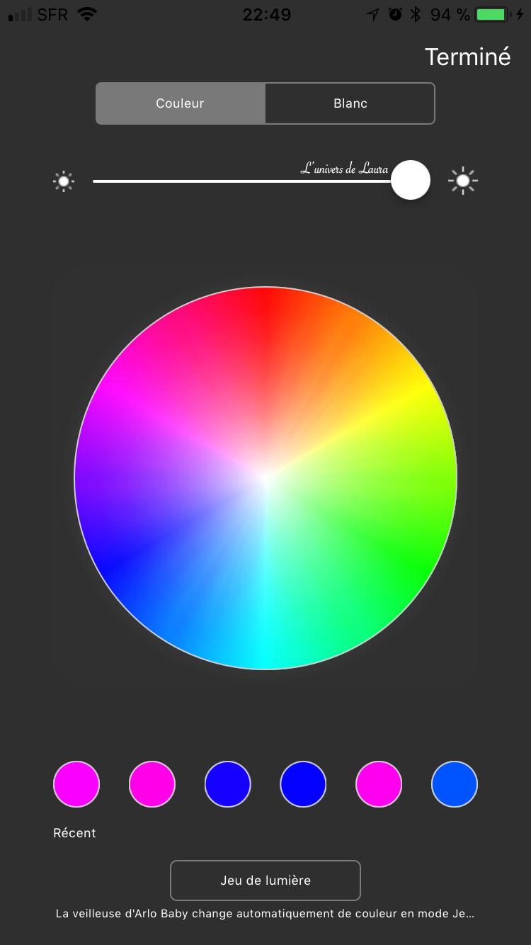 couleurs veilleuse